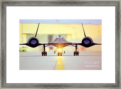 Roger That - Sr71 Jet Framed Print