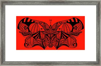 Roger The Butterfly Framed Print by Kenal Louis