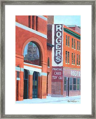 Rogers Framed Print by Claire Gagnon