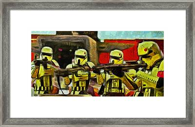 Rogue One Arrested - Da Framed Print