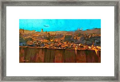 Rogue One City - Da Framed Print