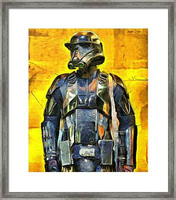 Rogue One Death Trooper Observing - Pa Framed Print