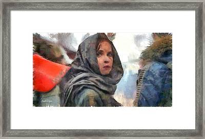 Rogue One Dissimulation - Da Framed Print by Leonardo Digenio