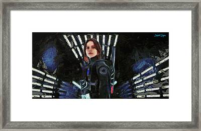 Rogue One Jyn Erso - Pa Framed Print by Leonardo Digenio