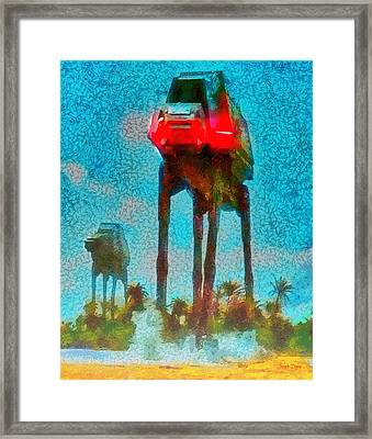 Rogue One Legged Tank - Da Framed Print