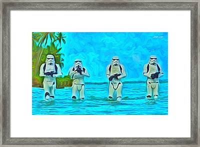 Rogue One Patrol In The Beaches - Da Framed Print