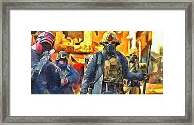 Rogue One Ready To Fight - Da Framed Print by Leonardo Digenio