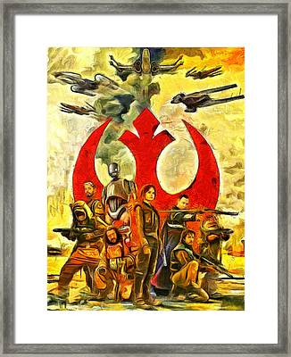 Rogue One Rebel Team - Pa Framed Print by Leonardo Digenio