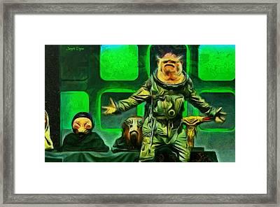 Rogue One Space Monkey - Da Framed Print