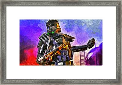 Rogue One Take The Granade - Da Framed Print by Leonardo Digenio