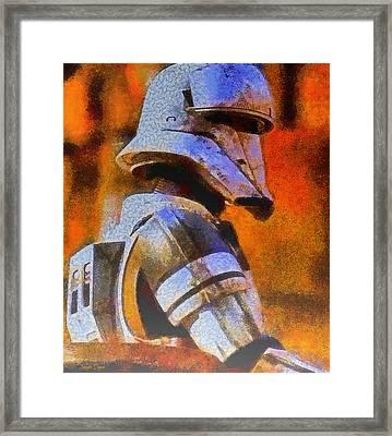 Rogue One Whitetrooper - Da Framed Print by Leonardo Digenio