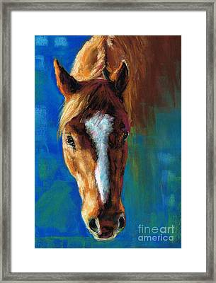 Rojo Framed Print by Frances Marino
