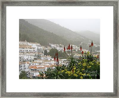 Framed Print featuring the photograph Rojo In The Pueblos Blancos by Suzanne Oesterling