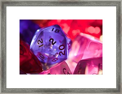Role-playing D20 Dice Framed Print by Marc Garrido