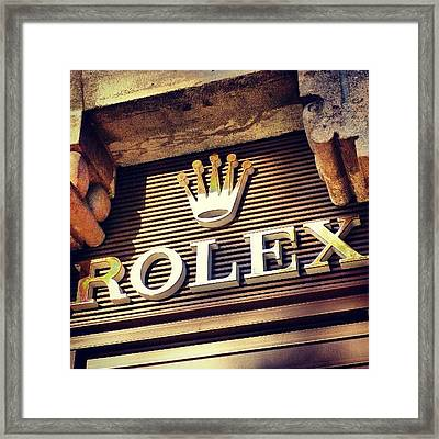 #rolex #watch #igdaily #android #ighub Framed Print