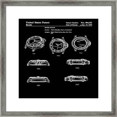 Rolex Watch Patent 1999 In Black Framed Print