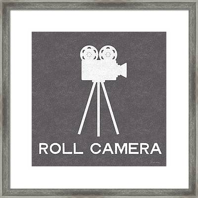 Roll Camera- Art By Linda Woods Framed Print