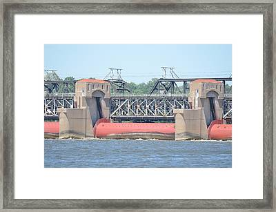 Roll Gates And Control Houses Framed Print