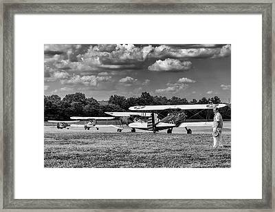 Framed Print featuring the photograph Roll Out  For Take Off by Alan Raasch
