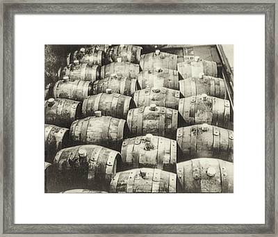Roll Out The Barrel Framed Print by Bill Cannon