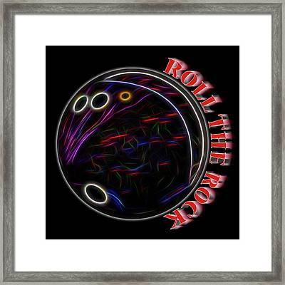 Roll The Rock Framed Print by Kelley King