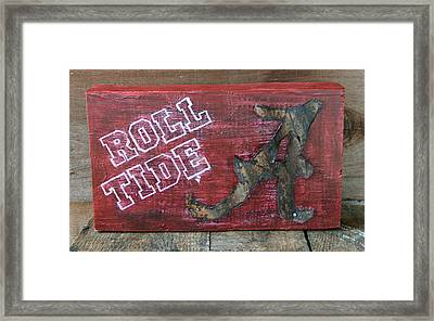 Roll Tide - Large Framed Print by Racquel Morgan