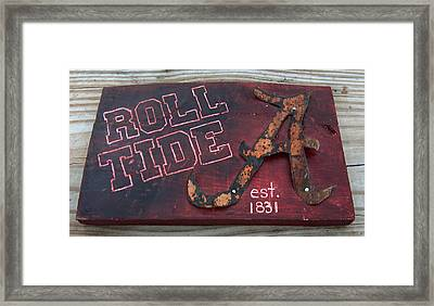 Roll Tide Alabama Framed Print by Racquel Morgan
