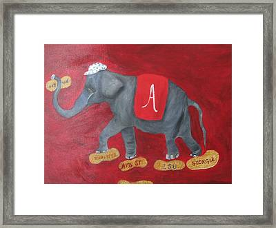 Roll Tide Framed Print by Brenda Luczynski