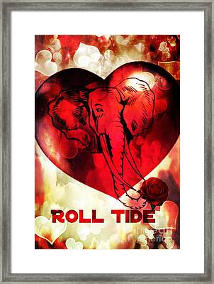 Roll Tide Framed Print by Maria Urso