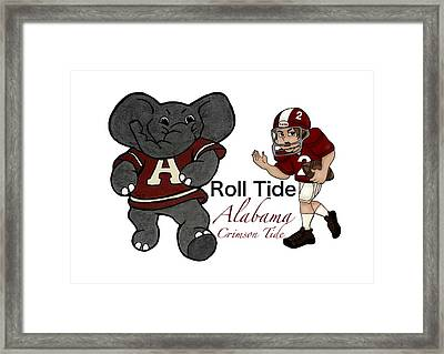 Roll Tide Mascot Player Framed Print by Tami Dalton