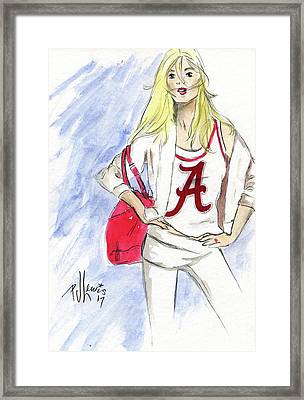 Roll Tide Framed Print by P J Lewis