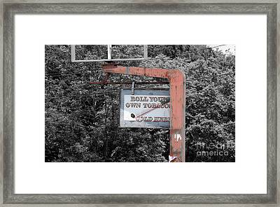 Roll Your Own  Framed Print by Steven Digman