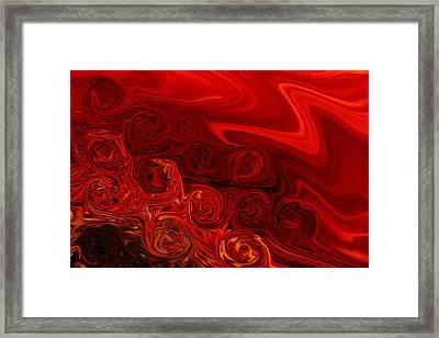 Rolled Silk Framed Print by Marnie Patchett
