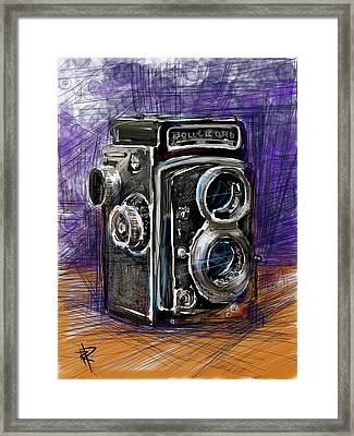 Rollei Framed Print by Russell Pierce