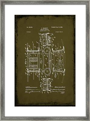 Roller Coaster Patent Drawing 1d Framed Print