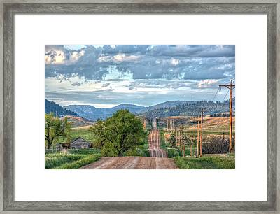 Rollercoaster Country Road Framed Print by Fiskr Larsen