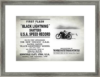 Rollie Free Flying Mile Framed Print