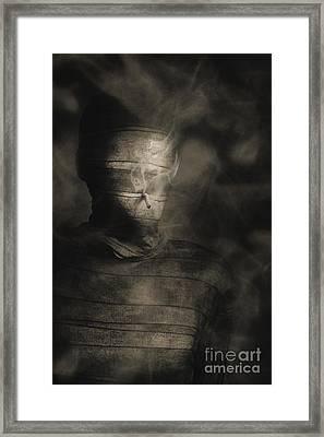 Rollie The Smoking Mummy Framed Print