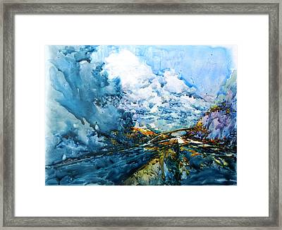 Rollin' Down The Highway Framed Print by Virgil Carter
