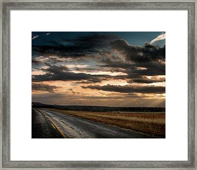 Rollin On Down The Highway Framed Print