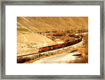 Rolling Around The Bend Framed Print by Jeff Swan
