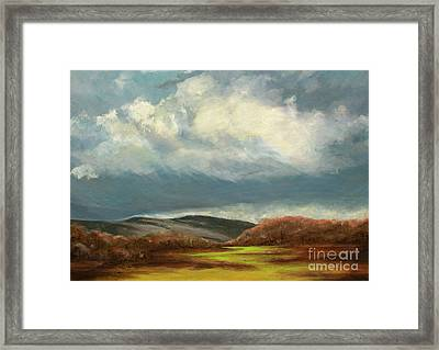 Rolling Clouds Over The Appalachian Mountains Framed Print by Cindy Roesinger