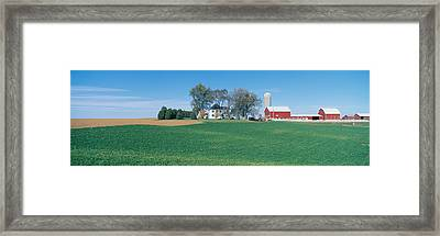 Rolling Farm Fields, Great River Road Framed Print by Panoramic Images