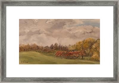 Rolling Fields In The Fall Framed Print by Debbie Homewood