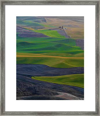Rolling Fields Of The Palouse Framed Print by James Hammond