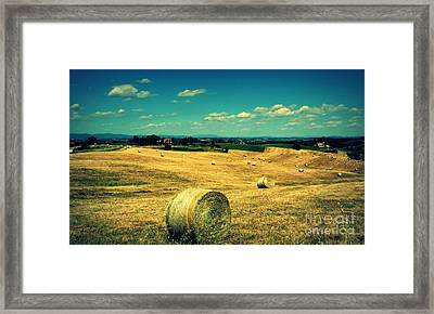 Rolling Fields Of Tuscany Framed Print