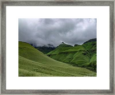 Rolling Green Drakensberg Mountains Framed Print