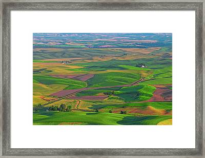 Rolling Green Hills Of The Palouse Framed Print by James Hammond
