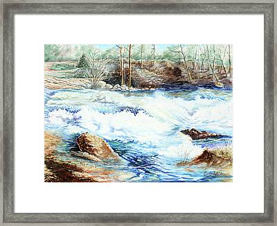 Rolling High Water Framed Print