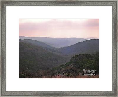Rolling Hill Country Framed Print by Felipe Adan Lerma